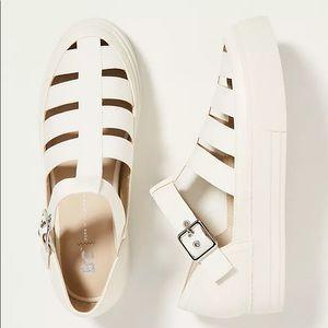BC Footwear White Fishermen Sandals